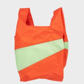 Shoppingbag L 'red alert & error' - Susan Bijl