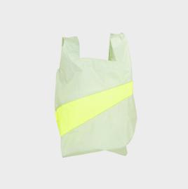 Shoppingbag M 'pistachio &  fluo yellow' - Susan Bijl