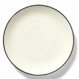 Servies Dé - Bord 28 cm Off-White/Black var 1 - Ann Demeulemeester Serax