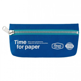 Etui 'Time for paper' Blue - Mark's Inc.