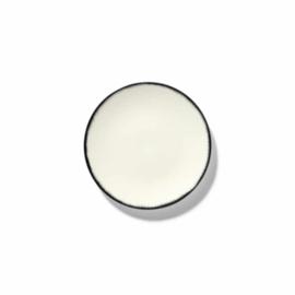 Servies Dé - Schoteltje / bordje 14 cm Off-White/Black var 1 - Ann Demeulemeester Serax