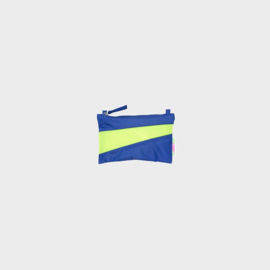 The New Pouch S 'electric blue & fluo yellow' - Susan Bijl