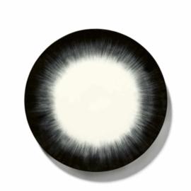 Servies Dé - Bord 24 cm Off-White/Black var 5 - Ann Demeulemeester Serax