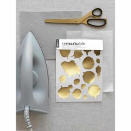 Gouden Vlek Kledingstickers reMARKable - Humade