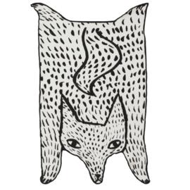 Kleine Deken / Plaid in de vorm van een wolf - Donna Wilson