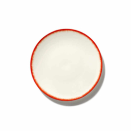 Servies Dé - Bordje 17,5 cm Off-White/Red var 2 - Ann Demeulemeester Serax