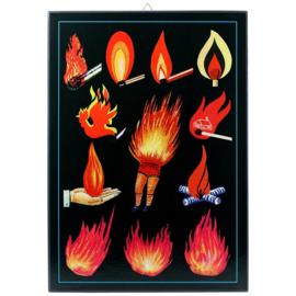 Schilderijtje 'Vuur' - De Beeldvink