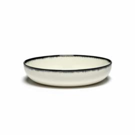 Servies Dé - Diep bord 18,5 cm Off-White/Black var A - Ann Demeulemeester Serax
