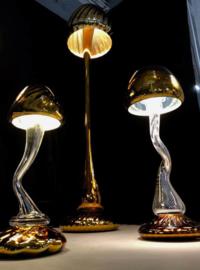 Tafellamp 'Mushroom' Zilver / Goud - Arnout Visser