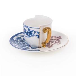 Hybrid servies - Koffiekop & schotel 'Eufemia' - Seletti
