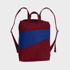 The New Backpack Rugzak 'burgundy & electric blue' - Susan Bijl