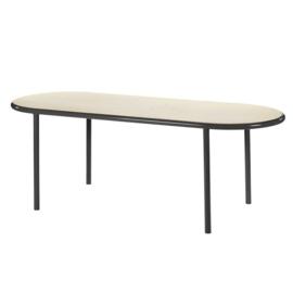 Wooden table oval black - Muller Van Severen / Valerie Objects