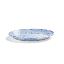 Blauw Soft Ice Oval Dish / Emaille ovale schaal - HAY