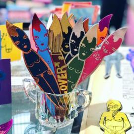 Bookmark / Boekenlegger 'Paintlovers' - Ark Colour Design
