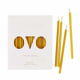 Verjaardagskaarsjes van bijenwas - OVO Things
