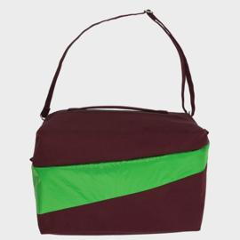 The 24/7 Bag weekendtas 'burgundy & greenscreen' - Susan Bijl