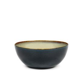 Kom 13,7 cm Misty Grey & Dark Blue - Serax / Anita Le Grelle