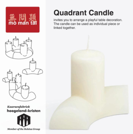Quadrant Candle / Kaars in een bocht - Mo man tai