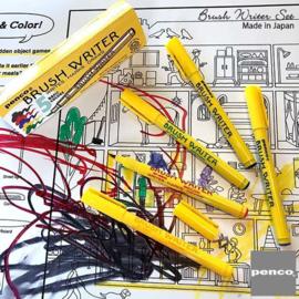 Japanse Penseel stiften / Brush writer Basic colors 5 stuks - Hightide