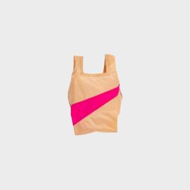 Shoppingbag S 'peach & pretty pink'  - Susan Bijl