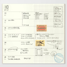 Refill 019 agenda week + memo voor Traveler's Notebook - Traveler's Company