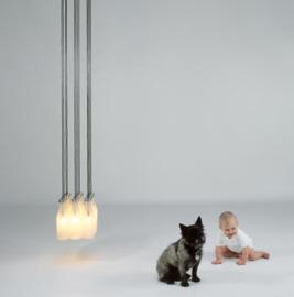 Hanglamp Milk bottle lamp 12 pcs Tejo Remy -  Droog