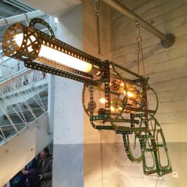Lamp van Meccano 'Gun' large - Oom Jan