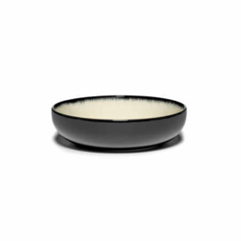 Servies Dé - Kom / Diep bordje 15,5 cm Off-White/Black var D - Ann Demeulemeester Serax