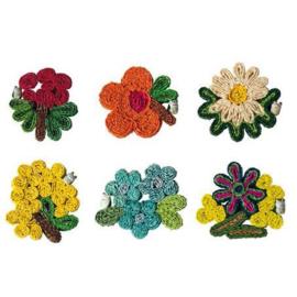Florigraphie: set van 6 cup coasters / onderzetters voor glazen 11 cm - Seletti