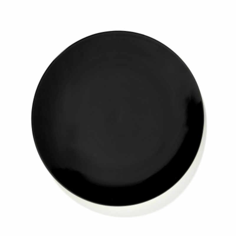 Servies Dé - Bord 24 cm Black - Ann Demeulemeester Serax