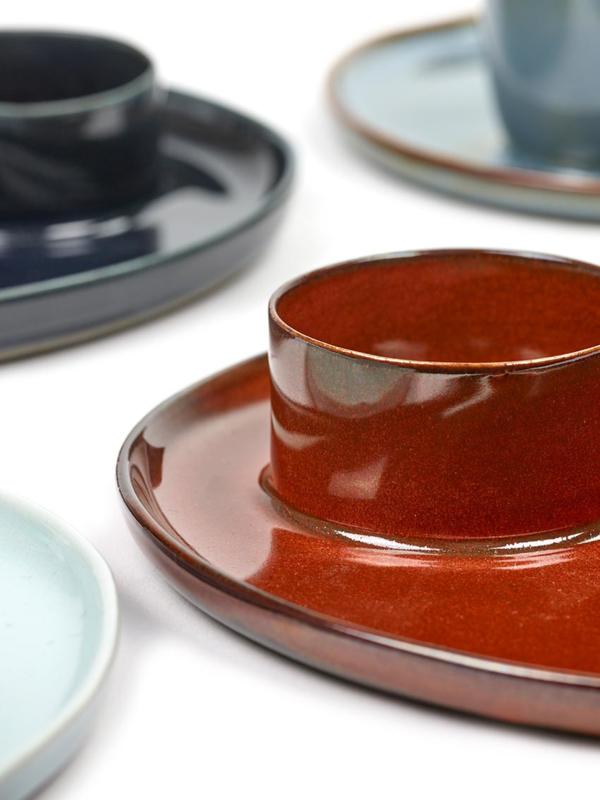 Ontbijtbord met eierdop Rust - Serax / Anita Le Grelle