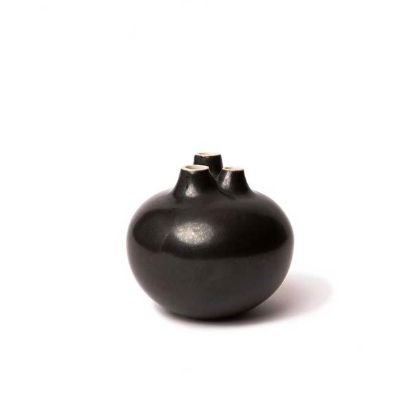 Kleine zwarte vaas Bari 3 Freckles Black - Lindform