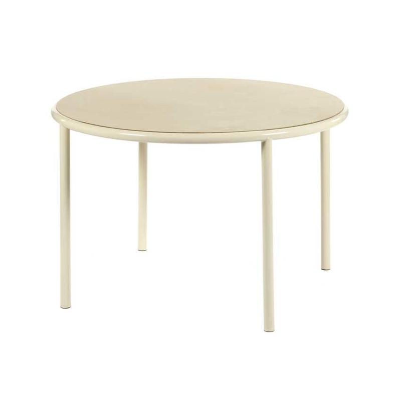 Wooden table round ivory - Muller Van Severen / Valerie Objects