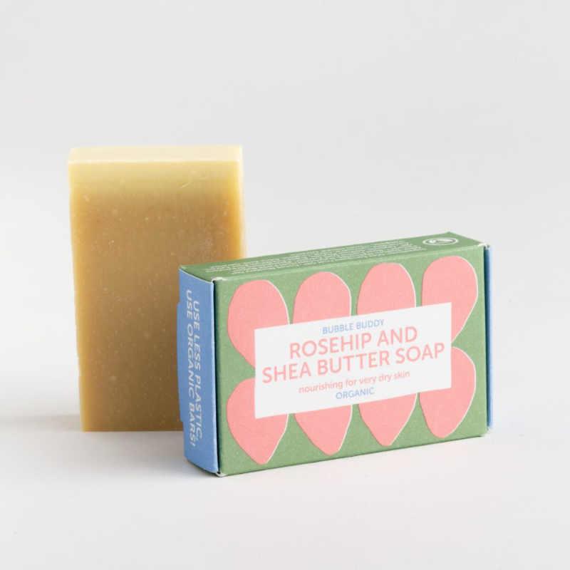 Biologische Rosehip and Shea butter zeep voor 'Bubble Buddy' - Foekje Fleur