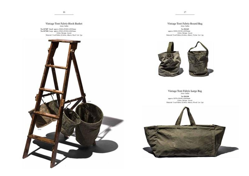Katoenen tas van Vintage tentdoek - Puebco