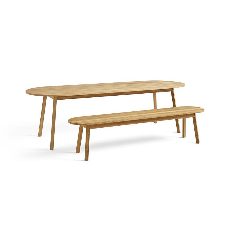 Eettafel bank 150 / 200 cm 'Triangle leg' - HAY