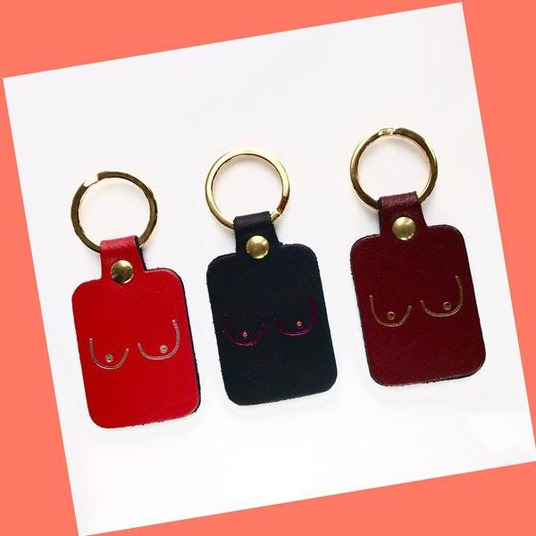 Key Fob / sleutelhanger 'Boobs' - Ark Colour Design