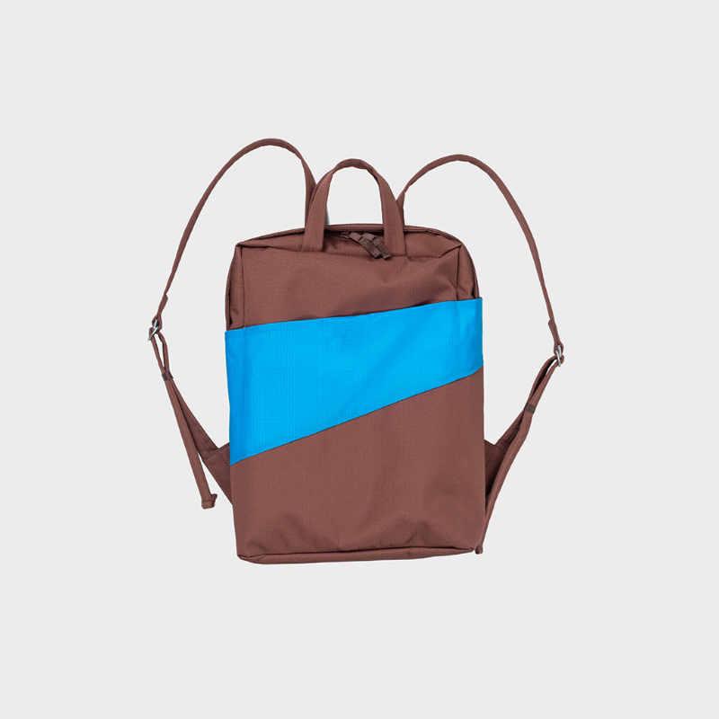 The New Backpack 'brown & sky blue' / Rugzak - Susan Bijl