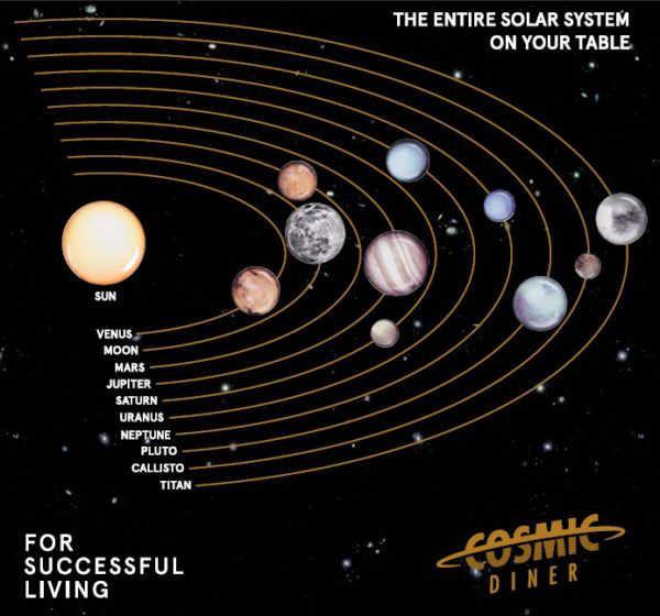 Cosmic Diner - Messing Eetstokjes / Quasar Chopstick - Seletti Diesel Living