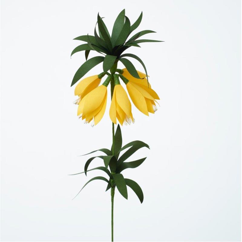 Paper Eden Fritillaria Yellow / Papieren kunstbloemen