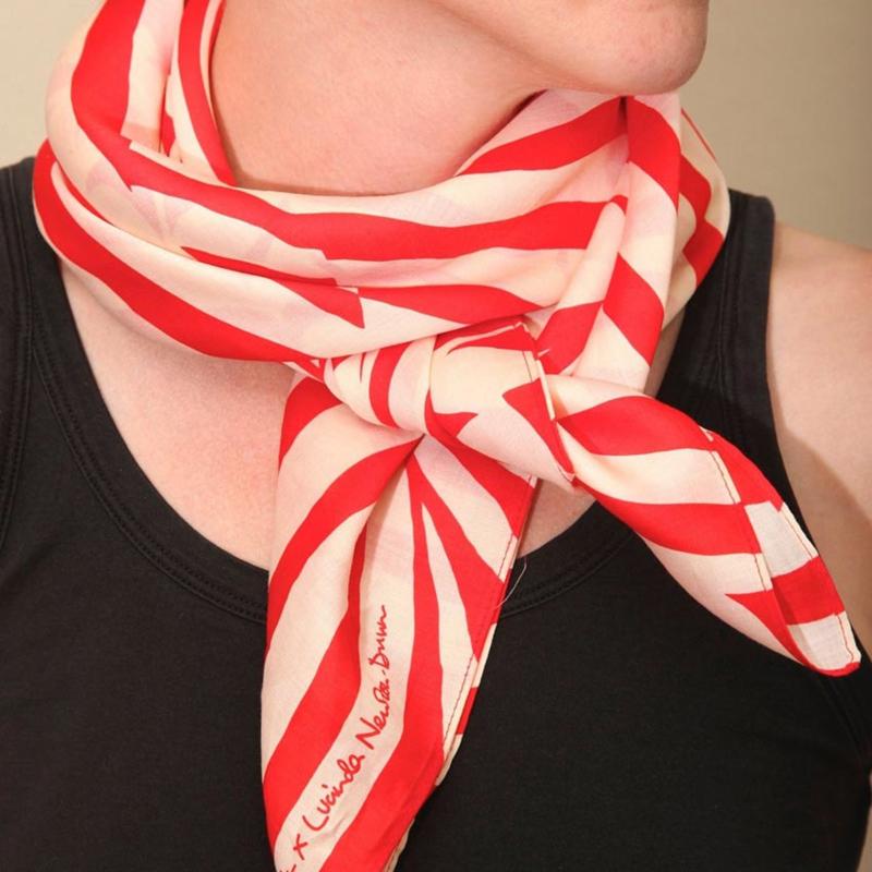 Furoshiki 90 x 90 cm 'Stripe' Red - Link