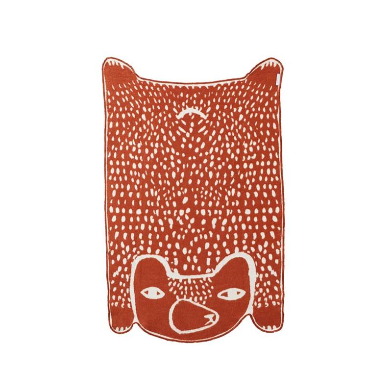 Kleine Deken / Plaid in de vorm van een beer - Donna Wilson