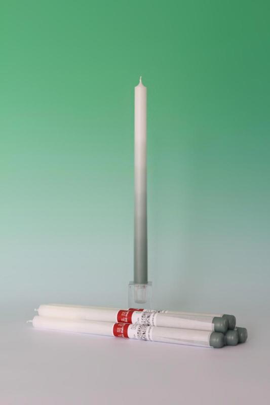 Gradiënt candle / kaars 'Jade Green' - Mo man tai