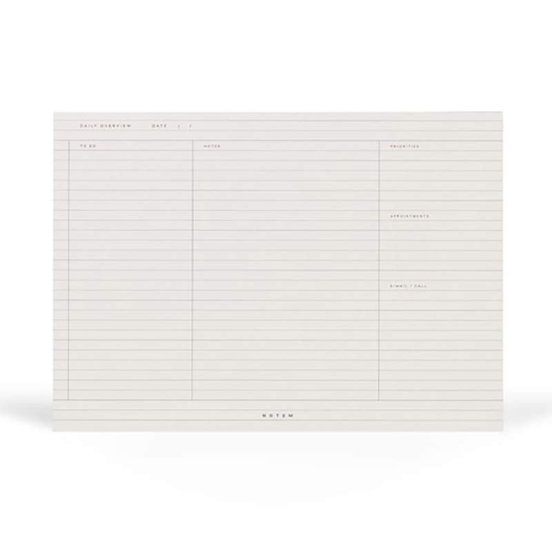 Daily Planner Milo Notepad White & Blue - Notem