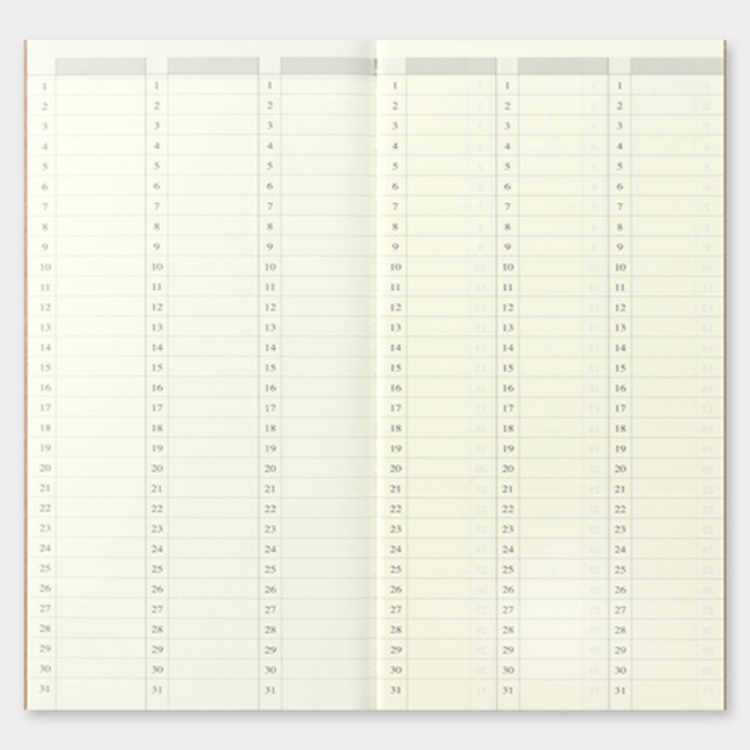 Refill 018 free diary week voor Traveler's Notebook - Traveler's Company