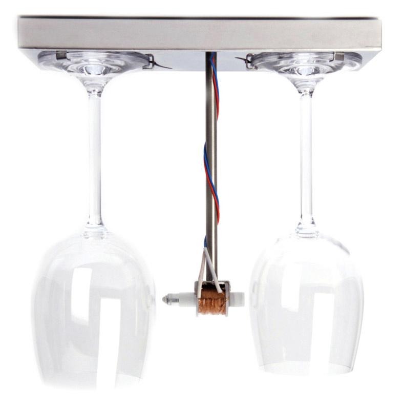 Bottoms up doorbell / deurbel van wijnglazen - Droog