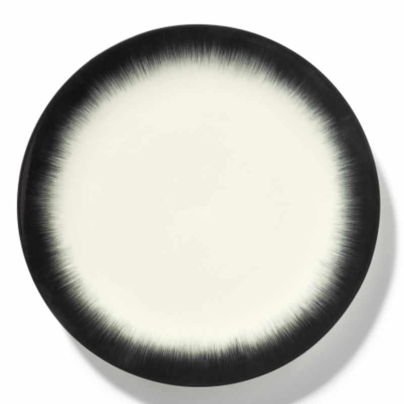 Servies Dé - Bord 28 cm Off-White/Black var 4 - Ann Demeulemeester Serax