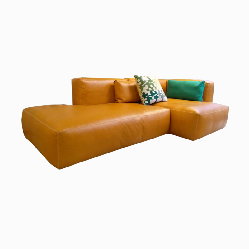 Mags Soft Sofa 256 cm - Leer Silk (whisky)