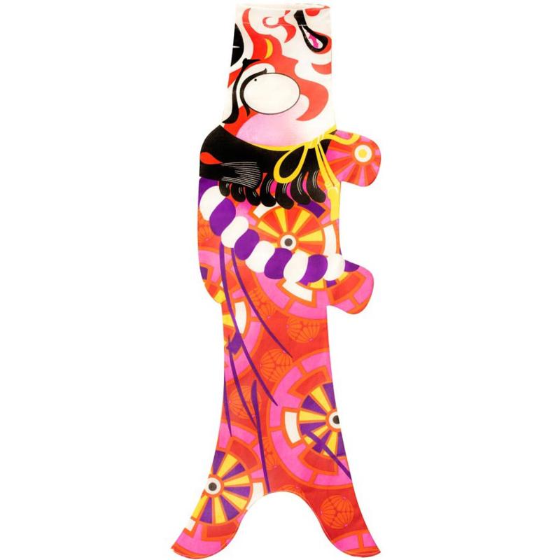 Koinobori Japanse vis vlag 'Kabuki Samurai' 70 cm - Madame Mo