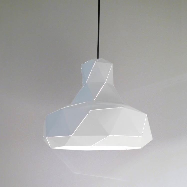 Helix hanglamp (wit / aluminium) - Marc de Groot